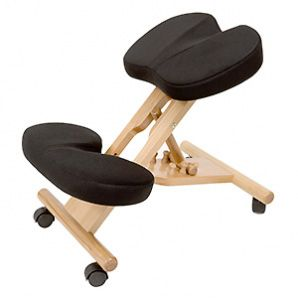 kneeling chair with coccyx cutout