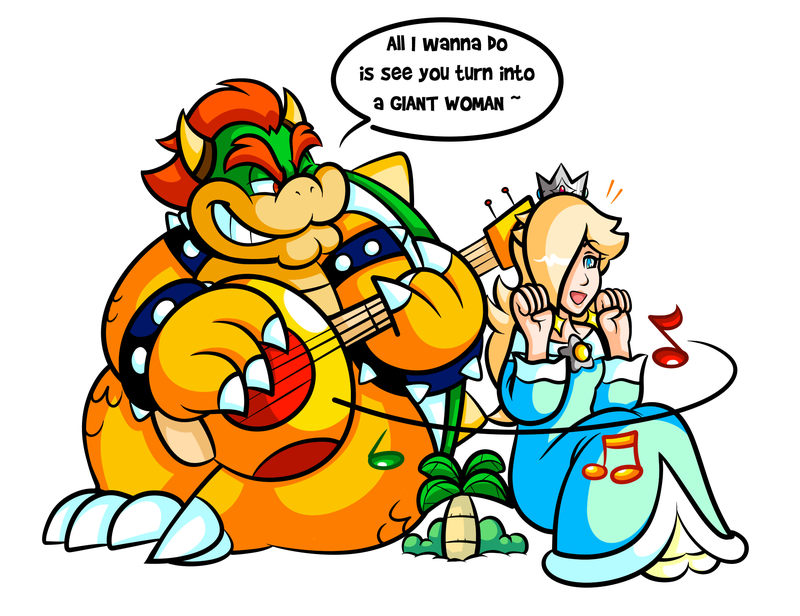 Commission Big Bowser's Ukelele Solo by
