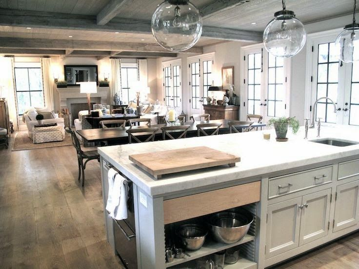 Considering The Open Concept Layout Open Kitchen And Living Room Home Kitchens Kitchen Layout