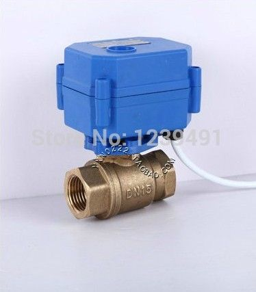 Motorized Ball Valve 1 Dn25 Dc9 24v Brass Cr 03 Cr 04 Wires Electric Ball Valve Engineering Plastics Valve Electricity