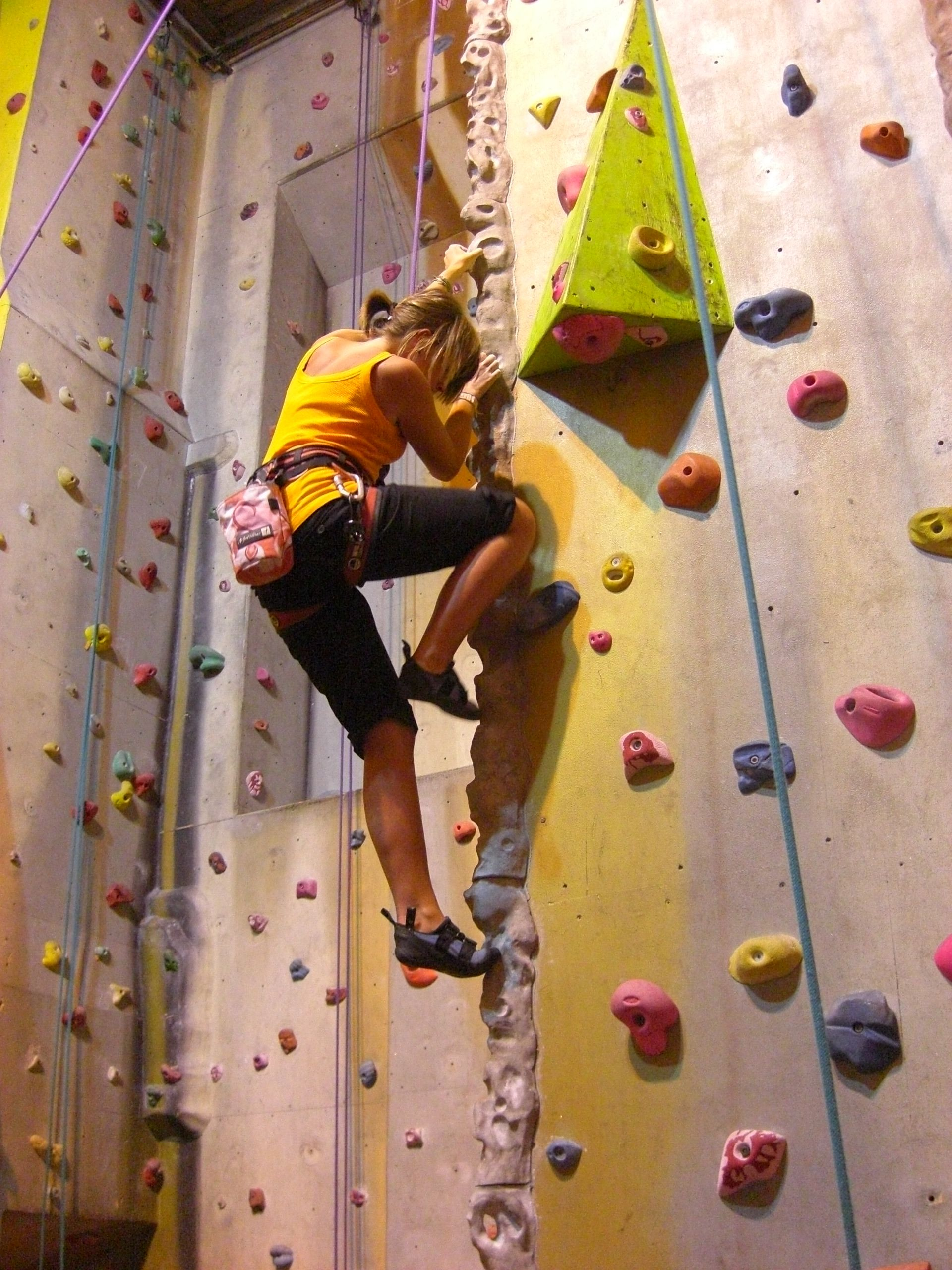 Its possible for me to rock climb indoors of course