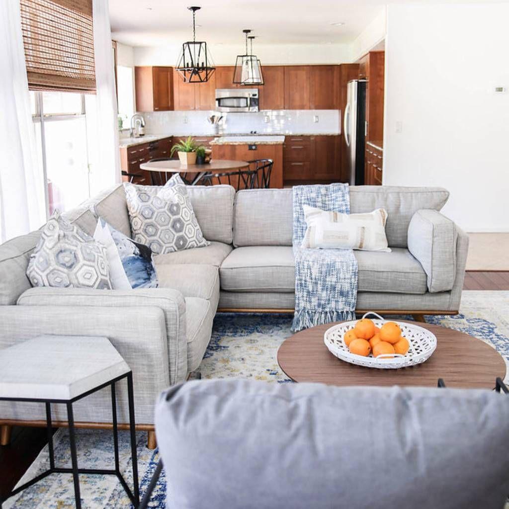 Timber Pebble Gray Corner Sectional | Sofas for small ...