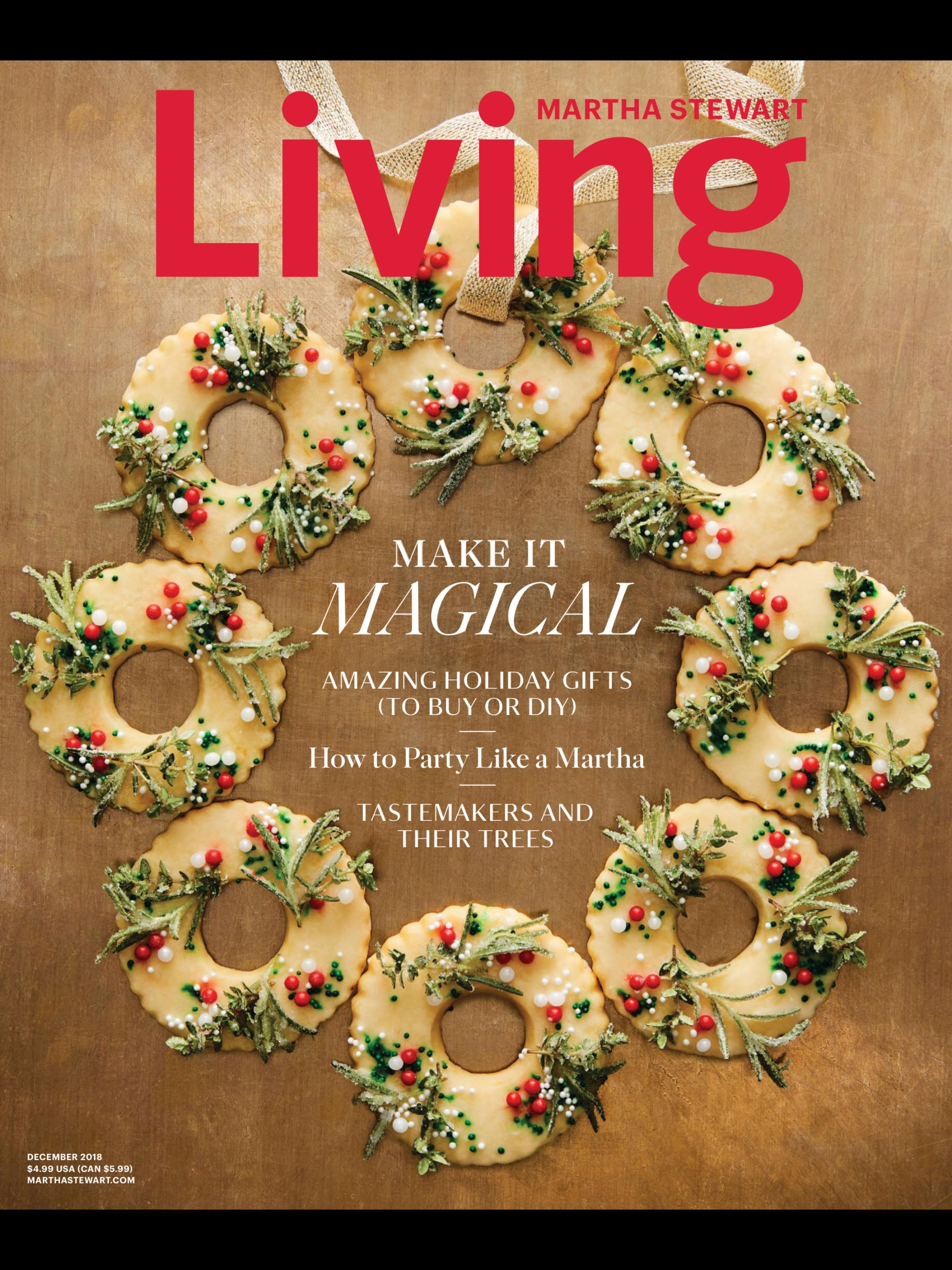 Meyer Lemon Shortbread Wreath Cookies With Sugared Rosemary And