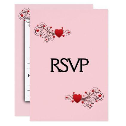 Hearts RSVP with Menu Card | Menu cards, Rsvp and Wedding ...