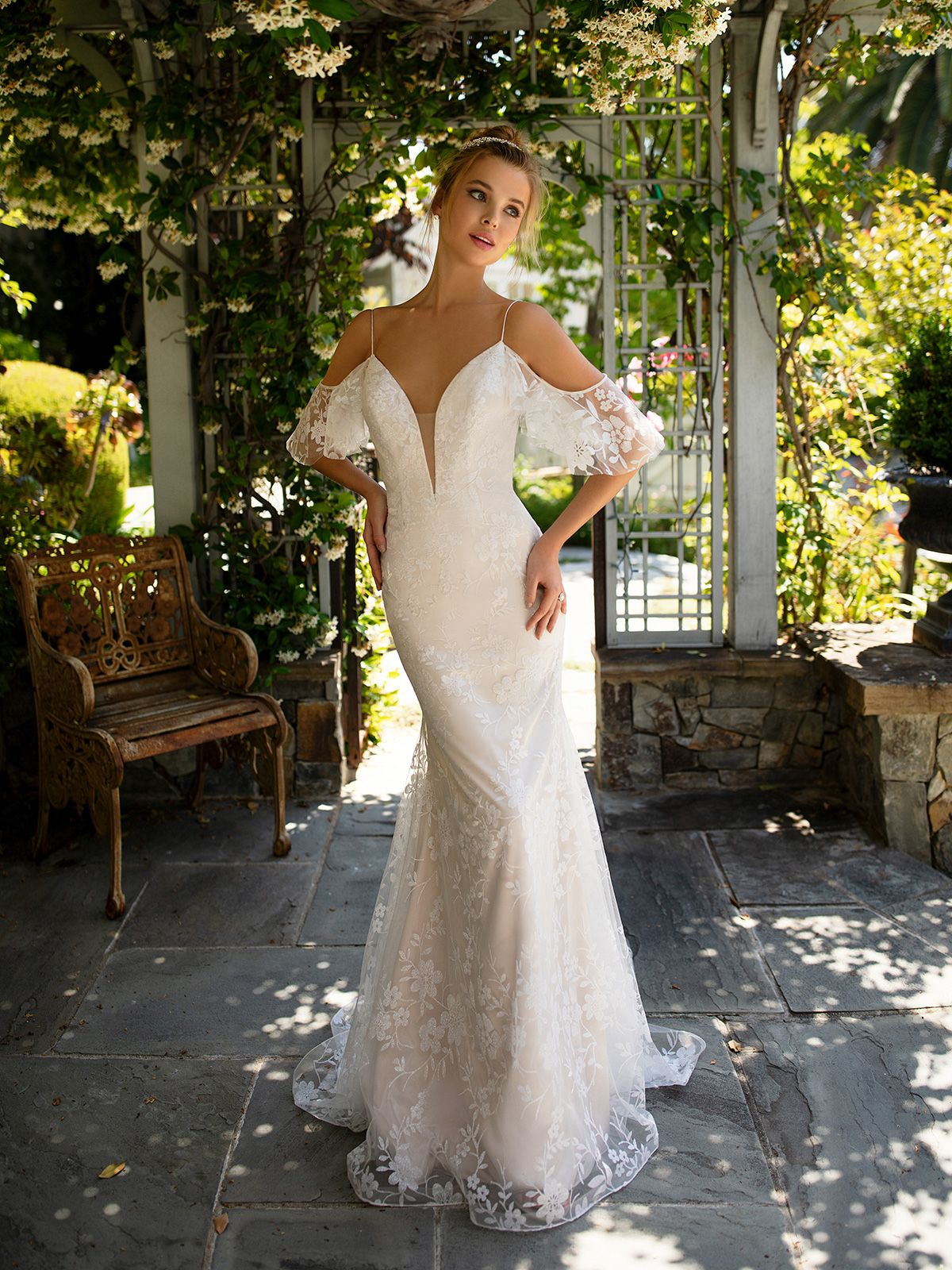 Sparkly Floral Mermaid Wedding Gown Simply Val Stefani Annetta S2141 Wedding Dresses Sydney Wedding Gowns Mermaid Bridal Gowns [ 1600 x 1200 Pixel ]