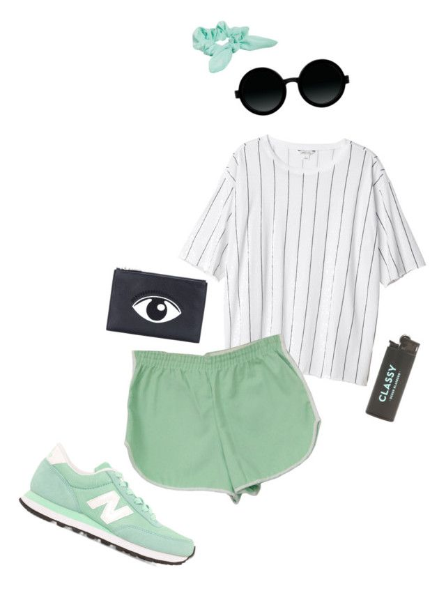 """""""Untitled #70"""" by dazed-and-c0nfused ❤ liked on Polyvore featuring Monki, Kenzo, New Balance, Moscot and ASOS"""