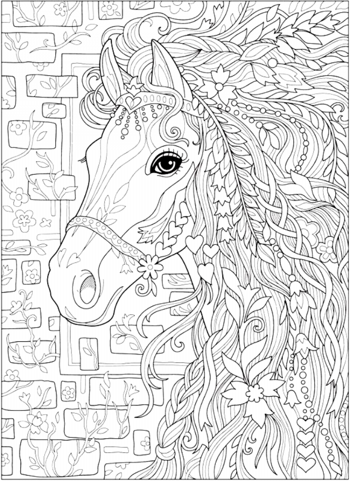 Coloring Coloring Abstract Coloring Pages Detailed Coloring Pages Horse Coloring Pages