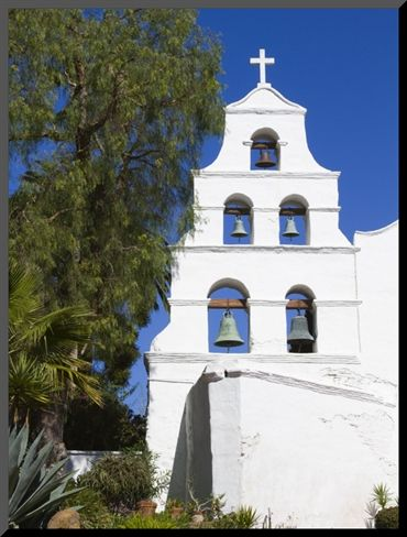 Mission San Diego Christmas Mass Schedule 2021 Bell Tower At Mission Basilica San Diego De Alcala Photographic Print Richard Cummins Allposters Com In 2021 San Diego San Diego Travel Basilica