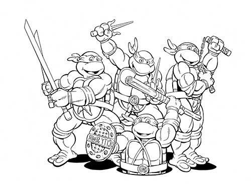 30 Desenhos das Tartarugas Ninja para Pintar/Colorir | Tartarugas ...