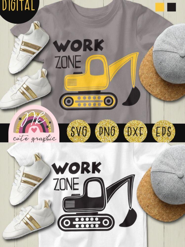 Baby work zone Excavator svg Construction svg Vehicles