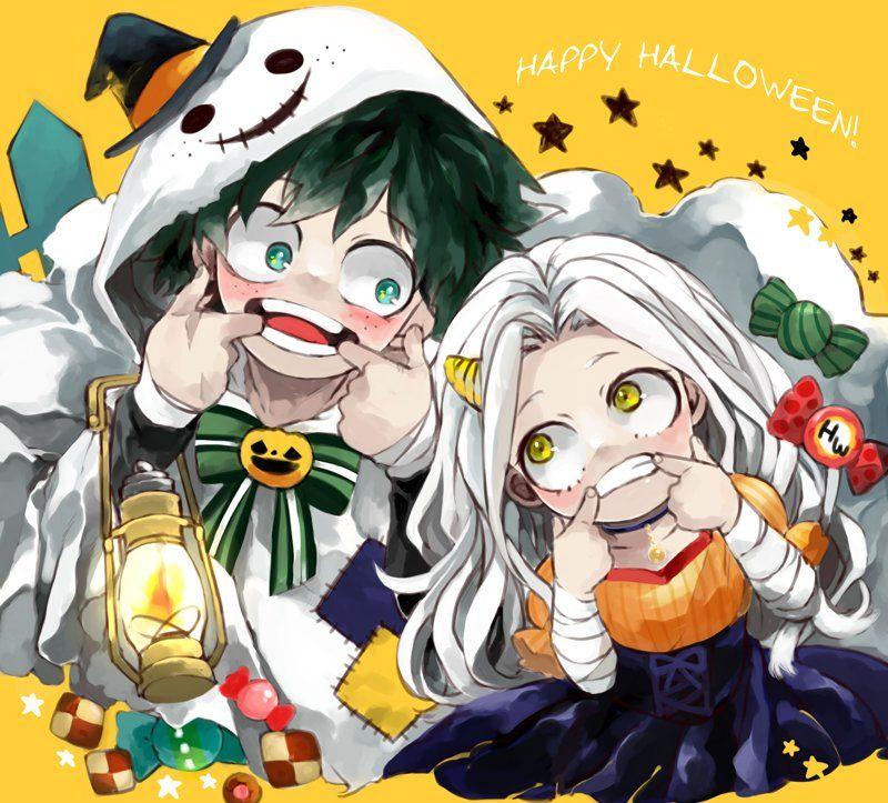 Characters Midoriya Izuku Eri Happy Halloween My Hero My Hero Academia Manga My Hero Academia Memes