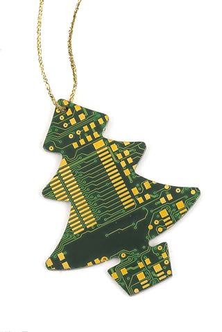 I Love These Circuit Board Ornaments The Idea Of A Whole Nerdy