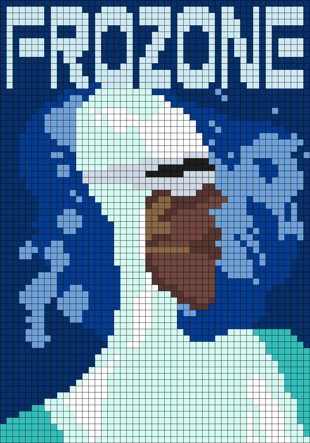 Frozone poster from the incredibles 49 x 70 square grid pattern frozone poster from the incredibles 49 x 70 square grid pattern bankloansurffo Image collections