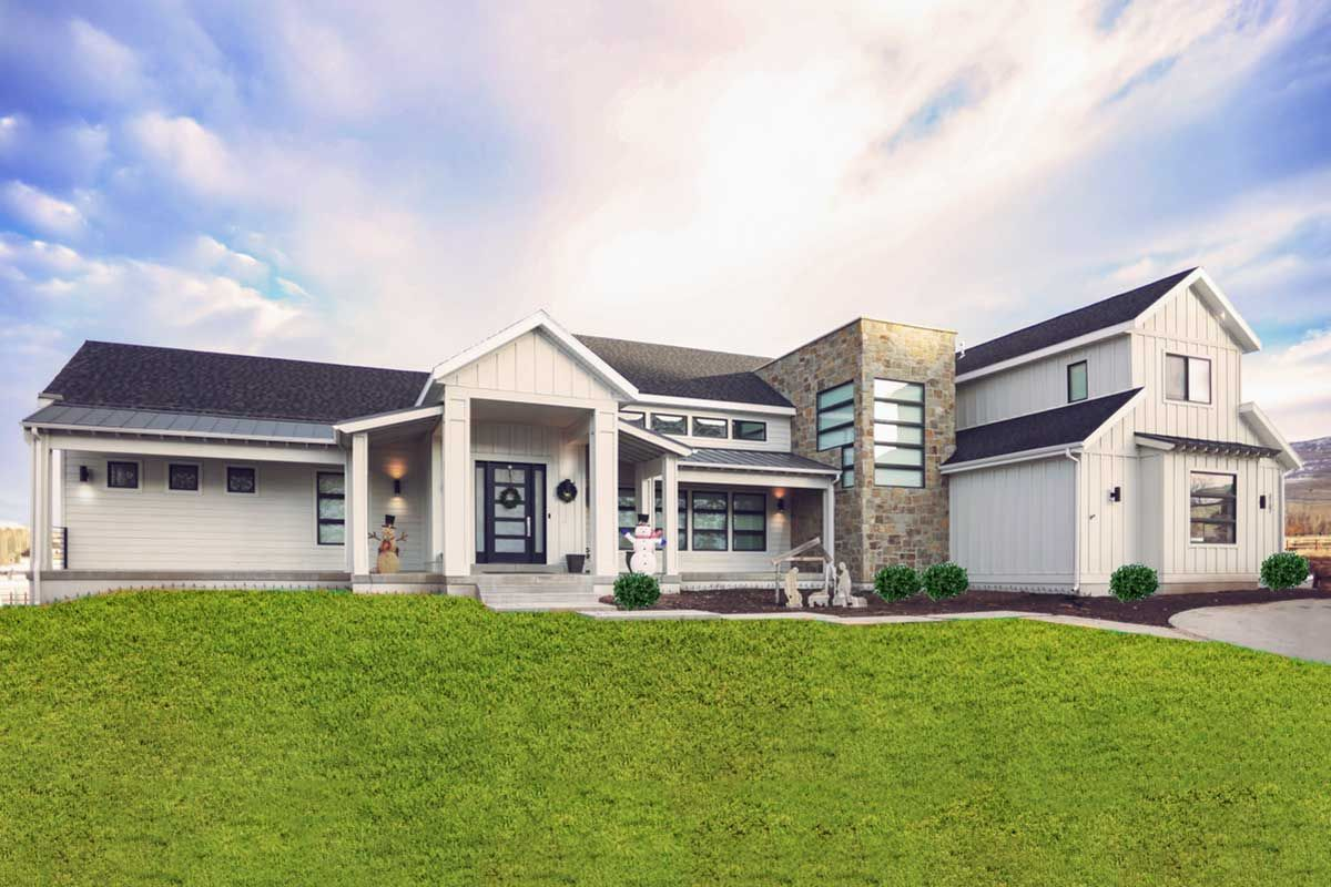 Plan 910068whd Contemporary Country Home Plan With Optional Upper