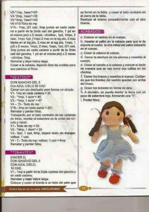 Muñecas | amigurumi | Pinterest | Muñecas, Patrones amigurumi y Patrones