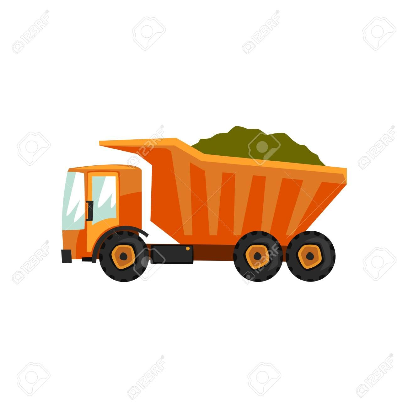 Agricultural Delivery Truck Transportation Of Grain Vector
