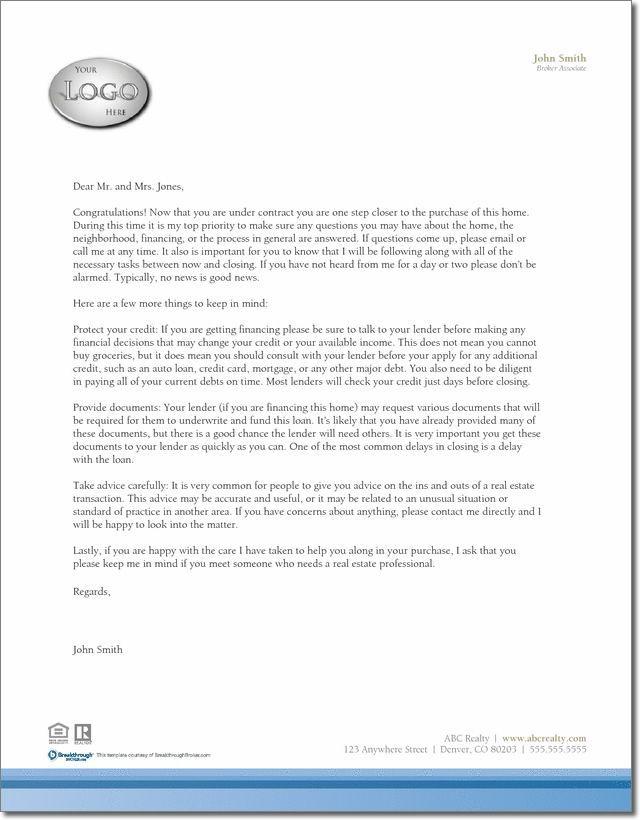 image result for realtor letters to prospective sellers letter