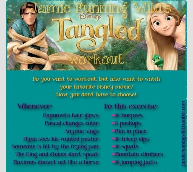 ❤️Workout To The Movie Tangled❤️ #Health #Fitness #Trusper #Tip #interiordesignideasbedroom #interio...