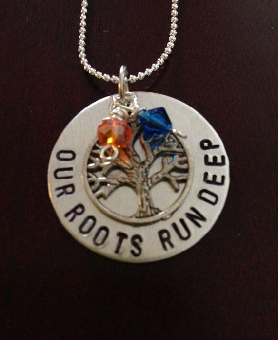 AUBURN TOOMERS CORNER handstamped necklace