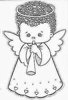 Natal Dos Anjos Paginas Para Colorir Natal Molde De Anjo