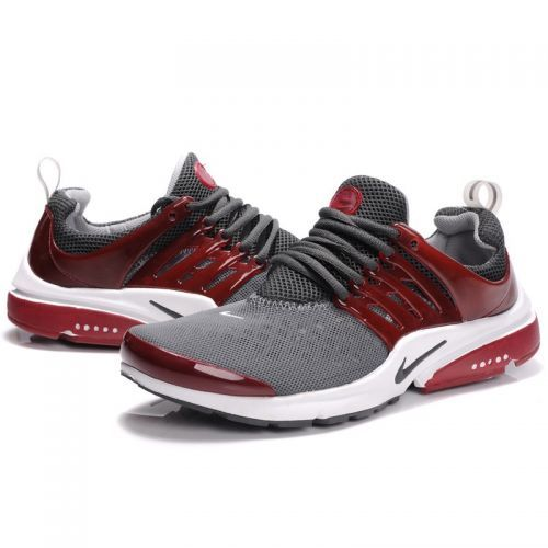 idc if they're mens Men's Nike Air Presto 2 Carving Running Shoes-Grey Red Black