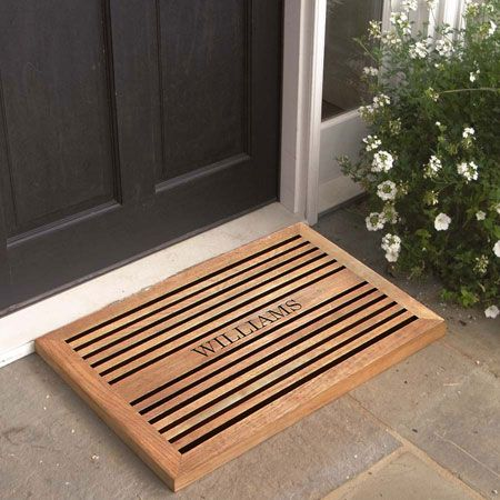 Teak Doormat Engraved Doormats Personalized Door Mats