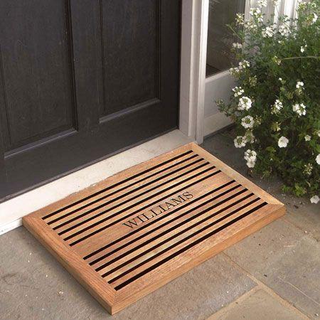 Teak Doormat Engraved Doormats Personalized Door Mats Welcome Country Casual