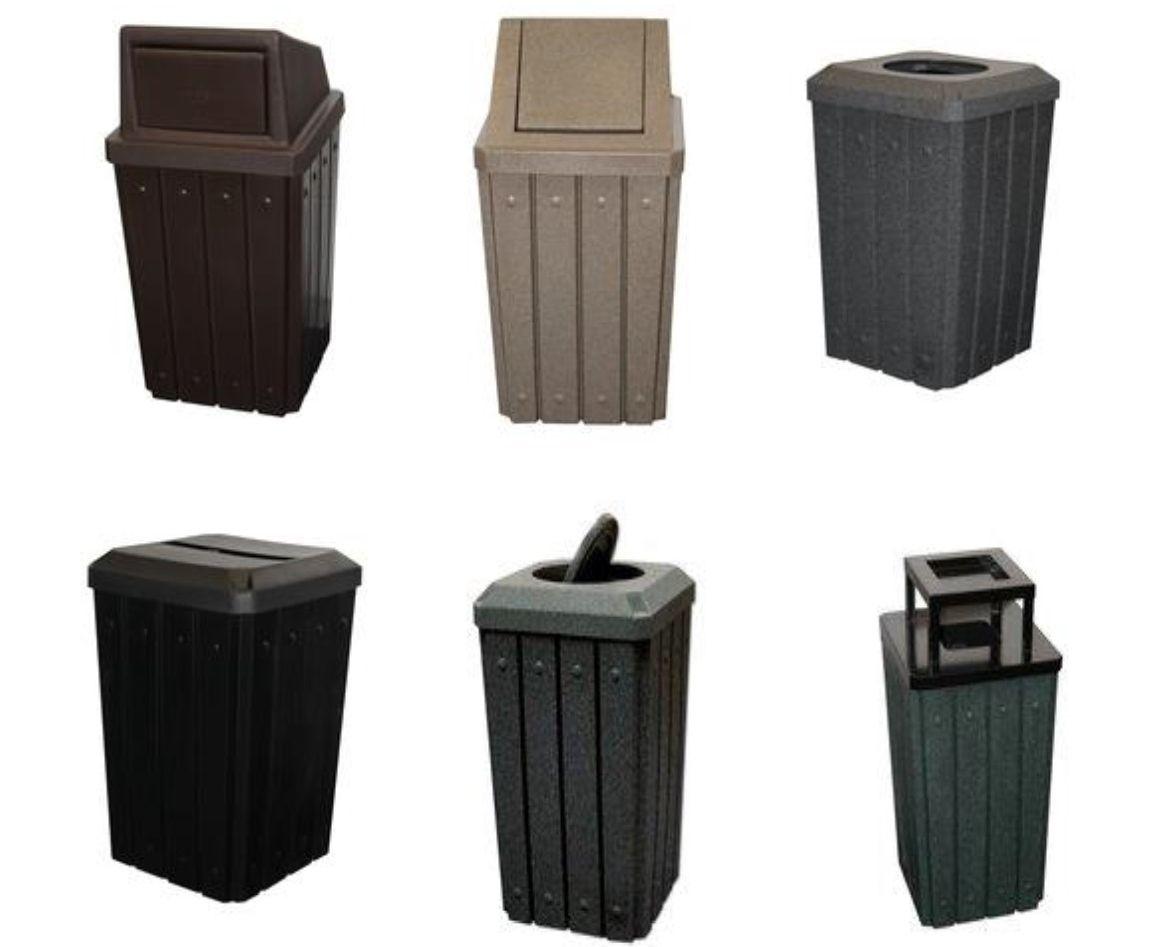 Gallon Kolor Can Signature Trash Receptacles Commercial Trash - Commercial bathroom trash cans