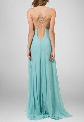 371c7bc7b vestido-alexa-longo-de-seda-animale-azul | afternoon/evening look S ...