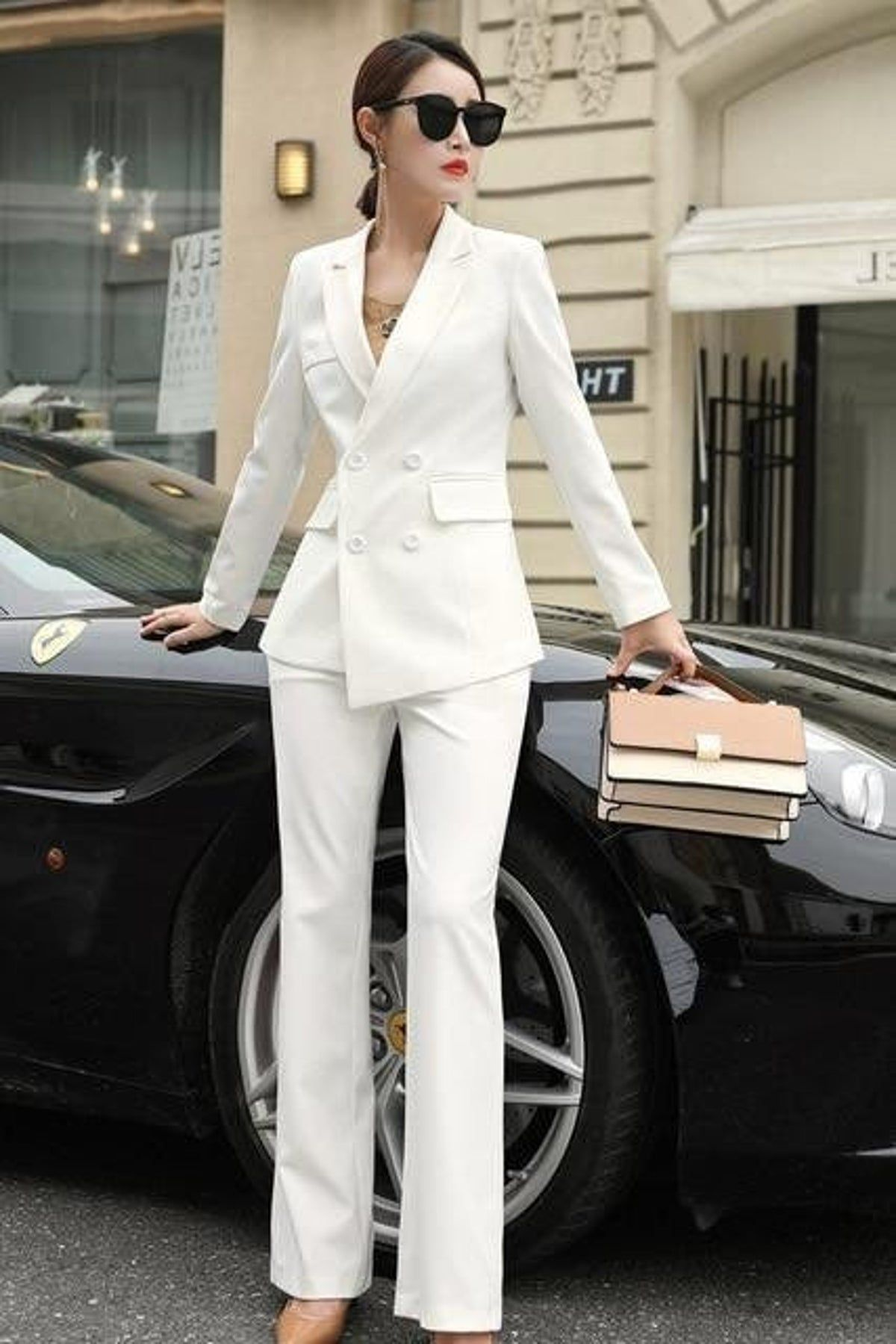 Women S Double Breasted Pantsuit