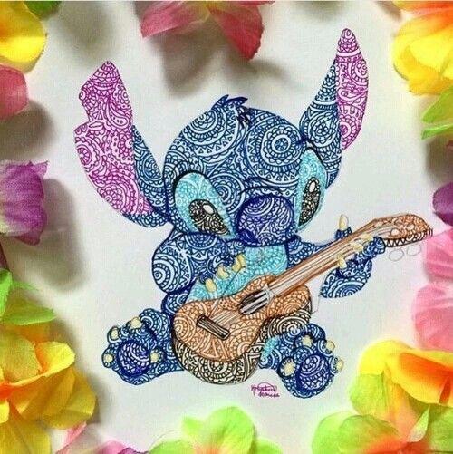 Mandala Stitch And Ukulele Dibujos Dibujo De Stich Dibujos De