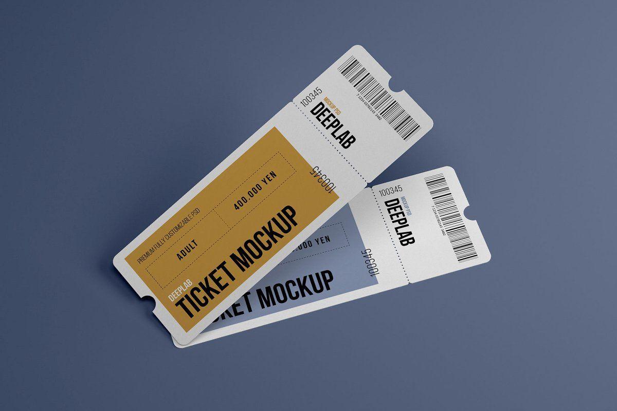 Tickets Mockup Set 17 Styles Mockup Postcard Mockup Ticket Design