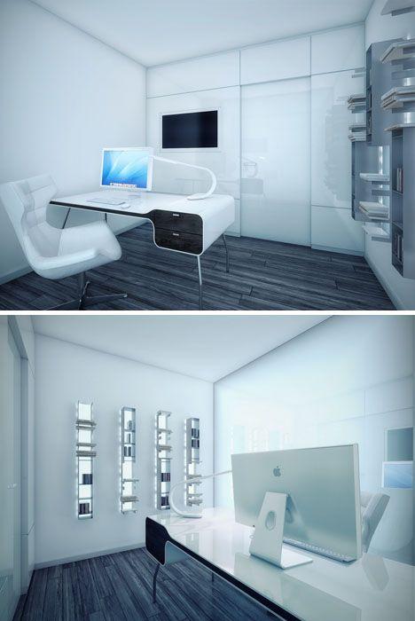 Futuristic Office Interior Design Minimalist Dream House