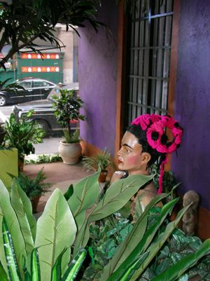 Frida Kahlo window display by Partridge Events | Frida Kahlo