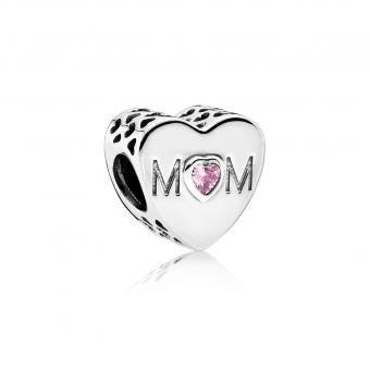 Charm Cœur d'une Mère Pandora 791881PCZ - Lookeor | Bracelet ...