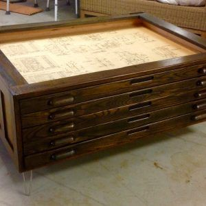 Architect Flat File Coffee Table