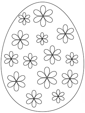 Ausmalbild Osterei Mit Bunten Bluten Basteln Mit Papier Ostern Ostereier Ausmalen Osterei Ausmalbild