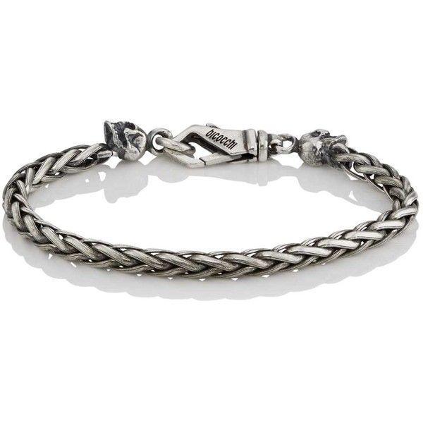 Emanuele Bicocchi Mens Braided Foxtail-Chain Bracelet dUS1QafZQ