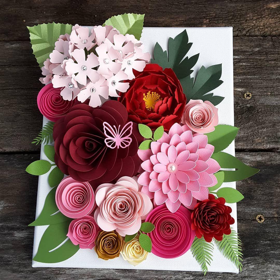 открытки с бумажными цветами фото