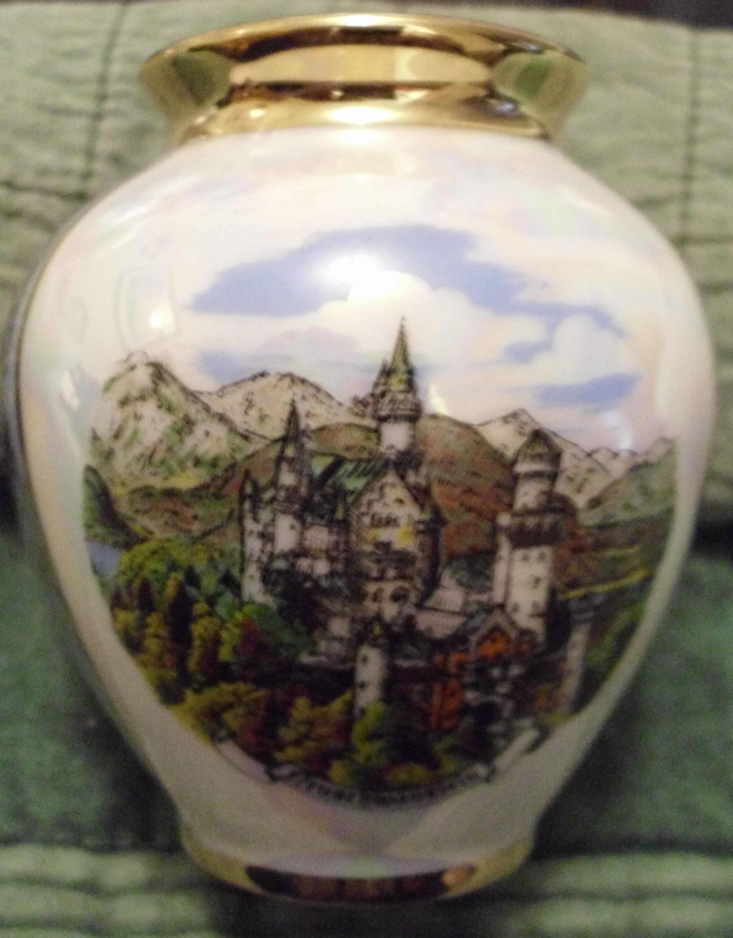 Castle neuschwanstein castle vase 3 tall