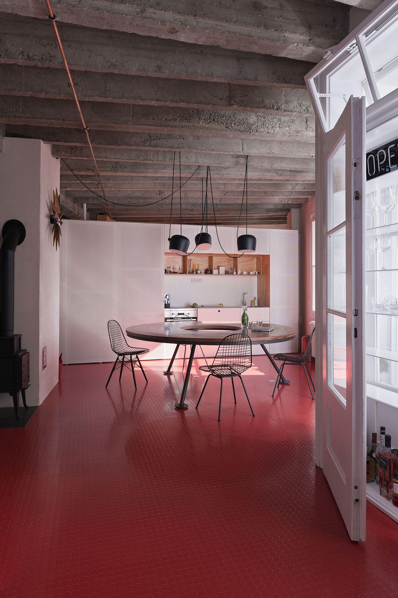 Decoración urbana. Elementos vintage, techos industriales y #suelo ...