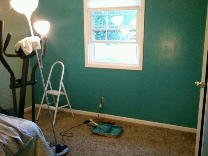 Tidal Teal paint by Lowes Valspar    decided to be a little