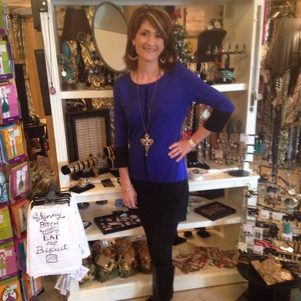 Sweater Fever - LeAnne is looking sassy in her new royal blue and ...