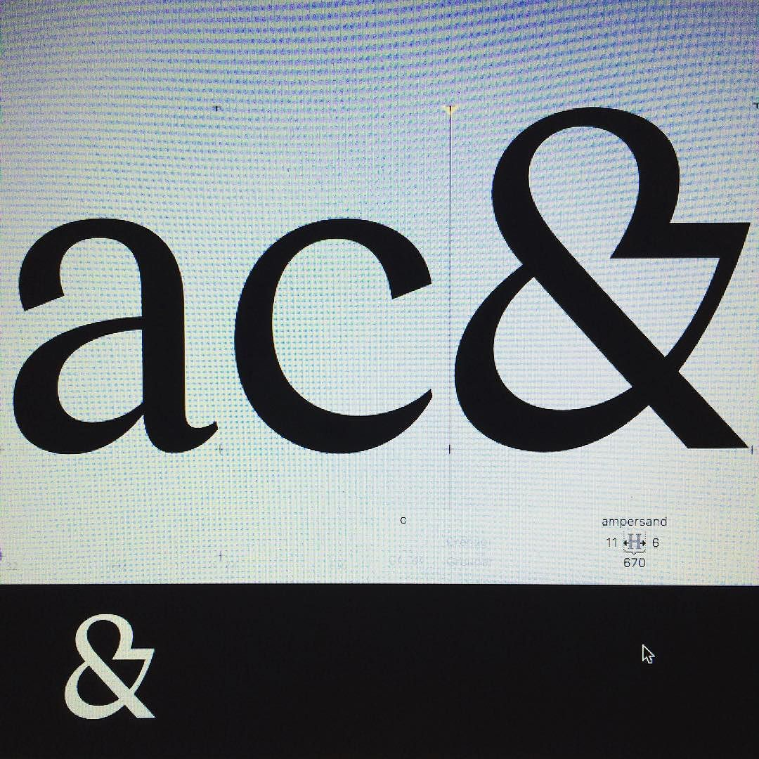 What About A Crazy Ampersand Typefamily Typedesign