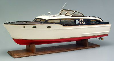 Chris Craft battery operated boat, wooden kit-built model ...