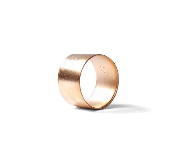 Handmade smooth finish cuff ring - Unisex. Available in: Polished Sterling Silver Matt Sterling Silver Blackened Silver Scratched Silver Brass Scratched Brass