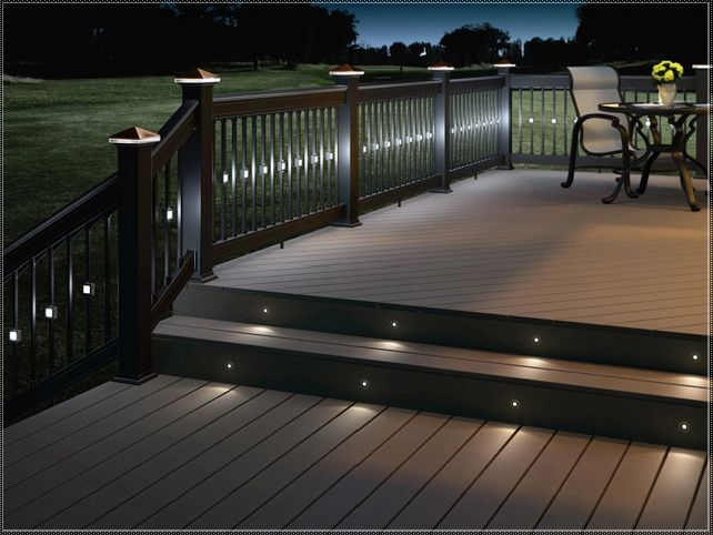 Deck lighting ideas solar deck lights pinterest deck for Decking spotlights