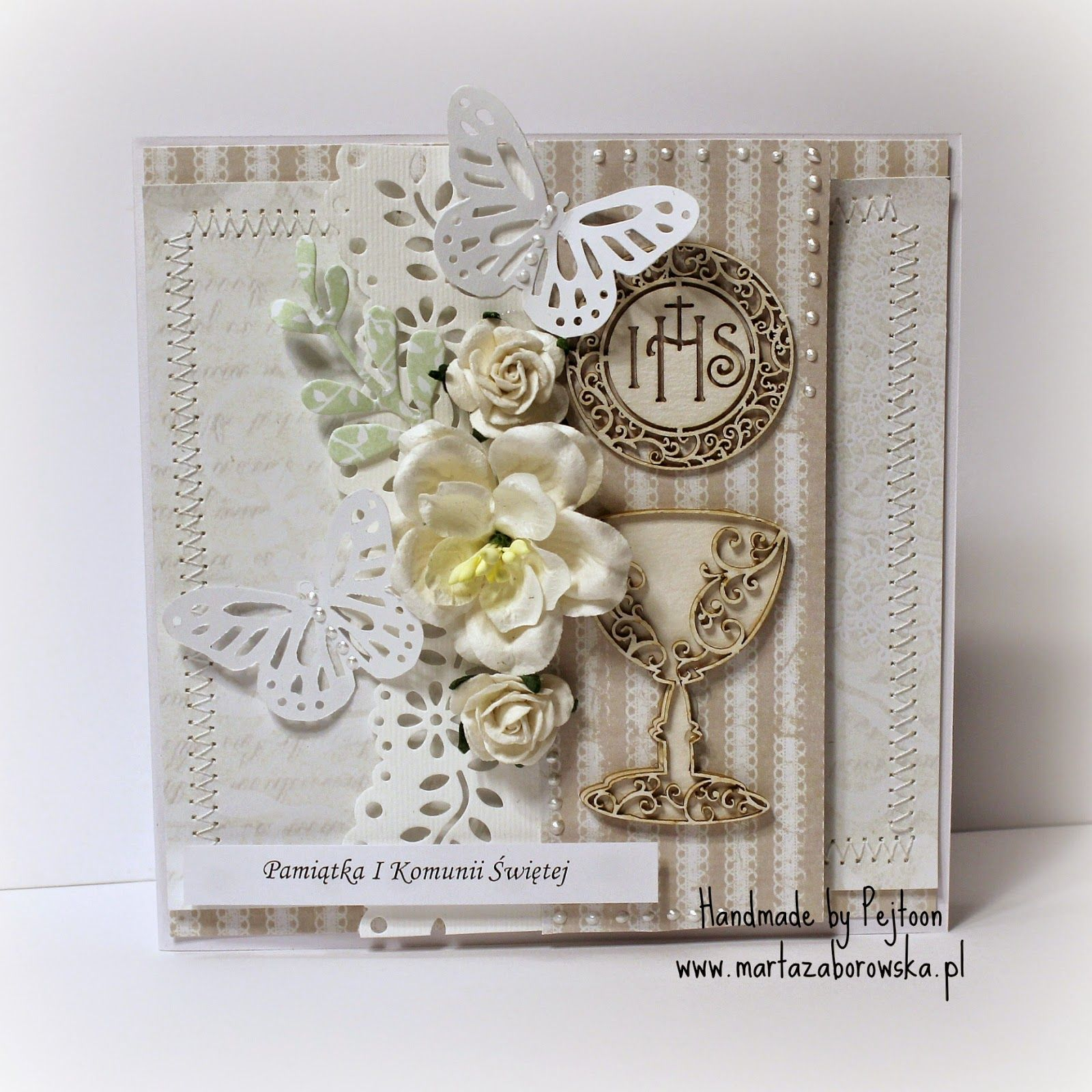 125 Pamiatka Pierwszej Komunii Swietej Handmade Cards Book Cover