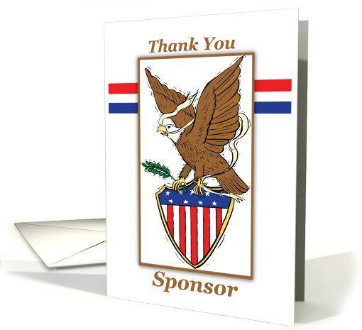 SPONSOR Thank You, Eagle Scout Project, Eagle Illustration