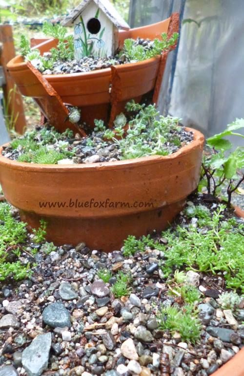 terracotta fairy garden dont throw   broken pots